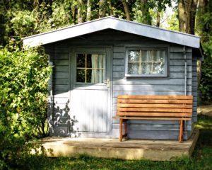 Gartenhaus Holz gemütlich